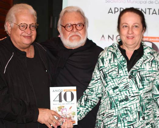 Ricardo Amaral com o casal Carlos Alberto e Beth Serpa