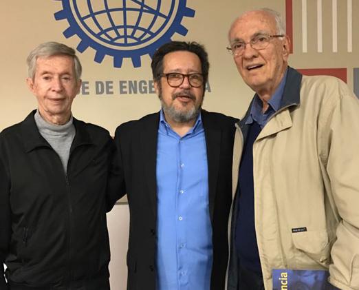 Saturnino Braga com Cesar Druker e Evaldo Valladão