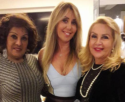 Tania Badin entre Isis Penido e Bete Suzano
