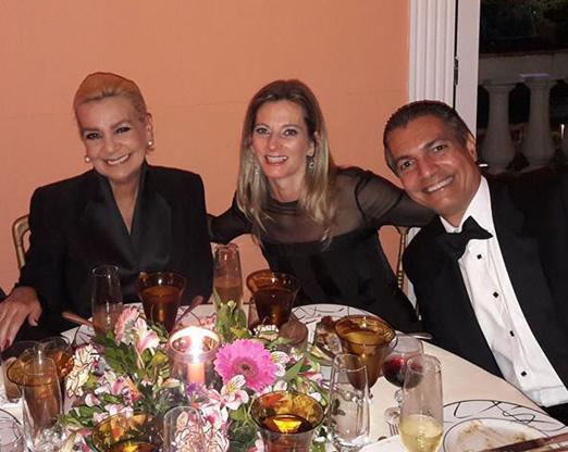 Vera Bangel com Dara Chapman e Gilson Araújo