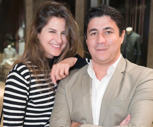 Alexandra Benenti e Diógenes Queiroz