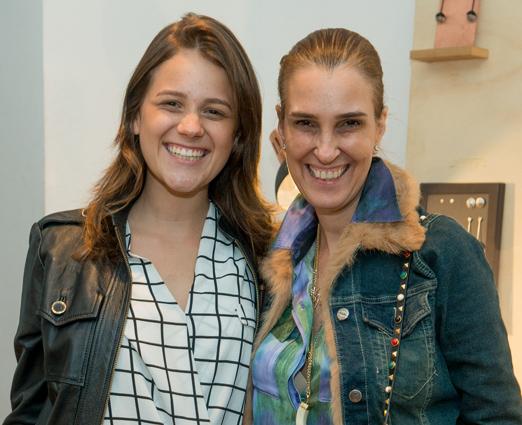 Bebel Schmidt e a filha Helena