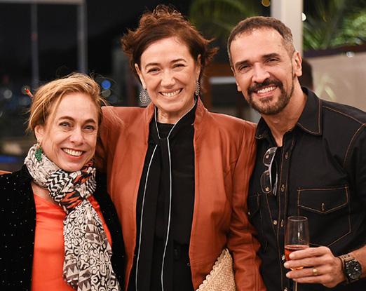 Cissa Guimarães, Lilia Cabral e Marcelo Saback