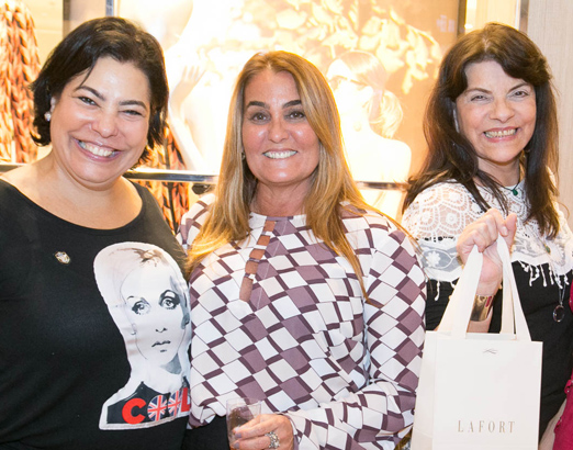 Claudia Cury, Monica Bandeira e Rose May Addario