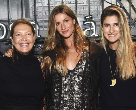 Donata Meirelles, Gisele Bundchen e Barbara Migliori