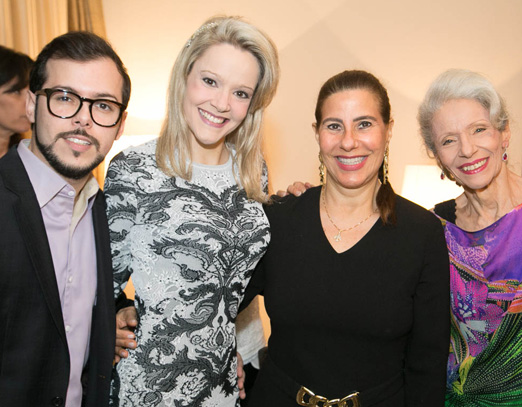 Felipe Braga, Roberta Monteiro Fonseca, Alice Tamborindeguy e Lucia Fonseca