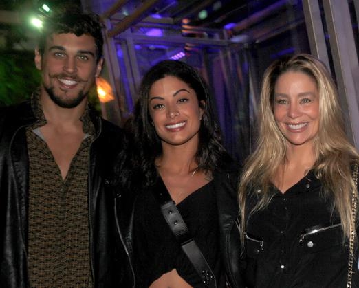 Felipe Roque, Aline Riscado e Danielle Winits