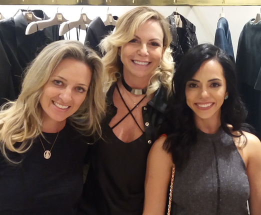 Fernanda Masciotro, Nina Kaufmann e Monique Serpa