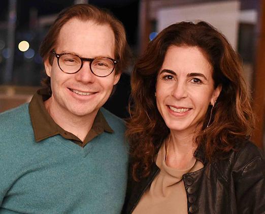 Flavio Rodrigues e Jackie de Botton