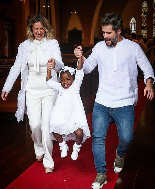 Giovanna, Bruno e a filha Titi