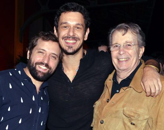 Gregorio Duvivier, João Vicente de Castro e Daniel Filho