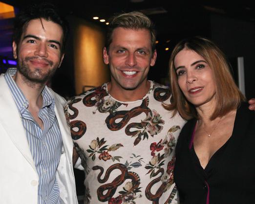 Henri Castelli com o casal Luiz Fernando Coutinho e Liège Monteiro