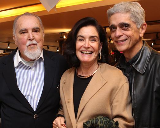 Jorge Cunha Lima, Gloria Kalil e Sergio Cardoso