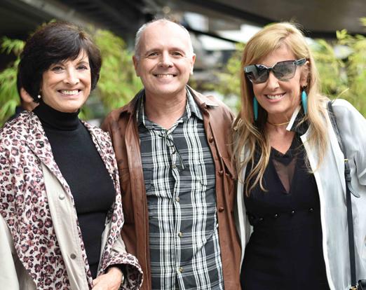 Ligia Azevedo, Chico Vartulli e Patricia Hall