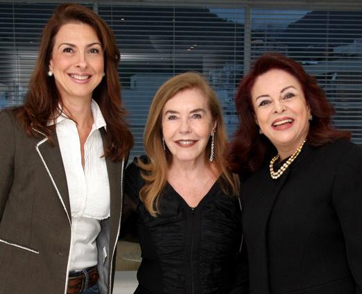 Mylene Peltier, Constança Castelo Branco e Suely Bedran