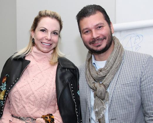 Nina Kauffmann e Claudio Diniz