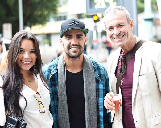Nina Lacerda, Rafael Suk e Carlos Freitas