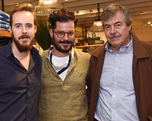 Stefan e Thomaz Weitbrecht com Victor Collor de Mello