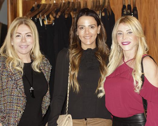 Tania Batista, Maria Leide Terra e Maria Claudia Coutinho
