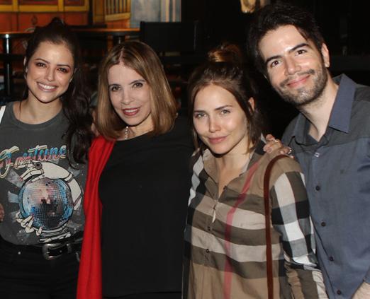 Ágatha Moreira, Liège Monteiro, Leticia Colin e Luiz Fernando coutinho