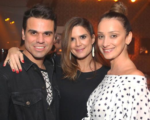 Beto Pacheco, Mariana Kupfer e Sabrina Parlatore