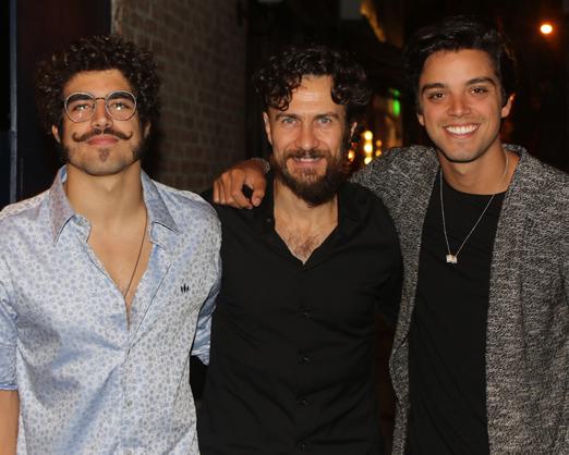 Caio Castro, Gabriel Braga Nunes e Rodrigo Simas