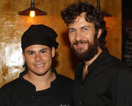 Chef David Nascimento e Gabriel Braga Nunes