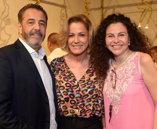 Claudio Pereira, Márcia Peltier e Yara Figueiredo