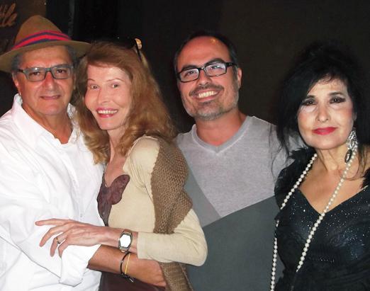 Jorge Salomão, Romy di Vitti, Christovam de Chevalier e Hanna