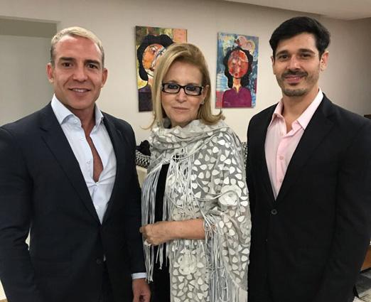 Leonardo Araújo, Fátima Martins e André Araújo
