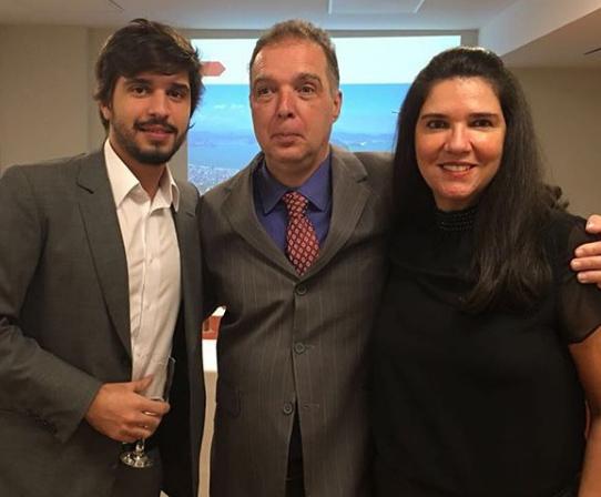 Lucas Teixeira, Bayard Boiteux e Joana Maria Teixeira