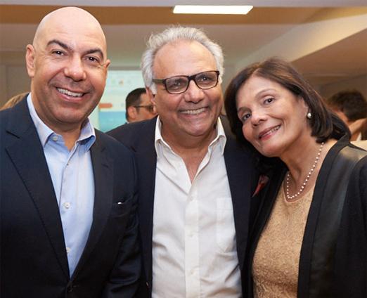 Marcelo Alves, Franklin Toscano e Camilla Pereira