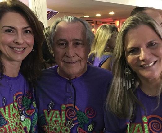 Mylene Peltier com o casal Leleco e Maninha Barbosa