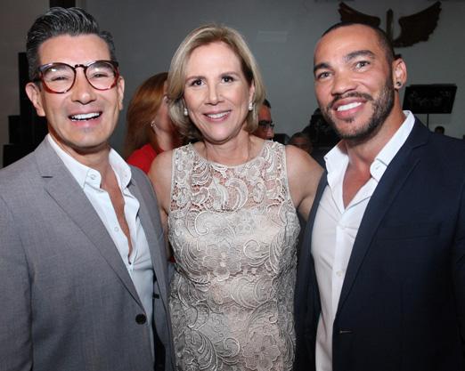 Sylvia Jane Crivella entre Marcelo Hicho e Italo Luz