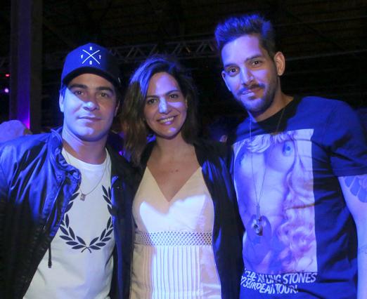 Thiago Martins, Carol Sampaio e Rodrigo Lampreia