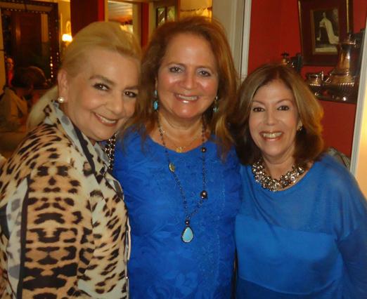 Vera Bangel, Renata Fraga e Sylvia de Castro