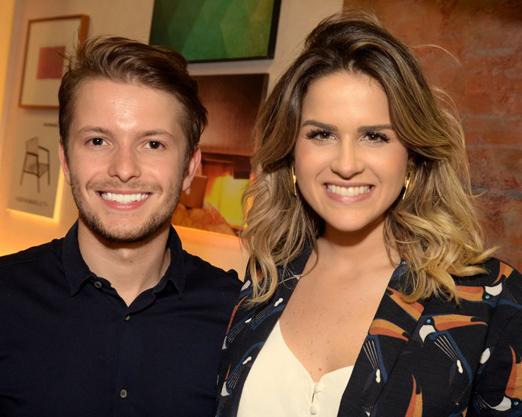Victor Niskier e Laila Coelho