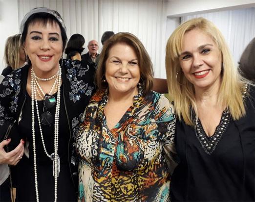 Yacy Nunes, Anna Ramalho e Marisa Araújo