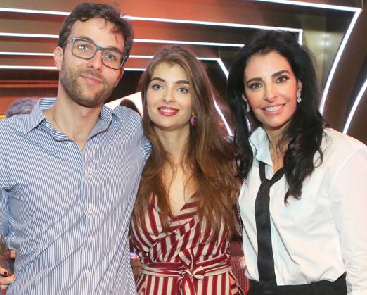 Antonia com os filhos Lorenzo e Maria