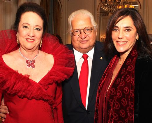 Beth e Carlos Alberto Serpa com Christiane Torloni