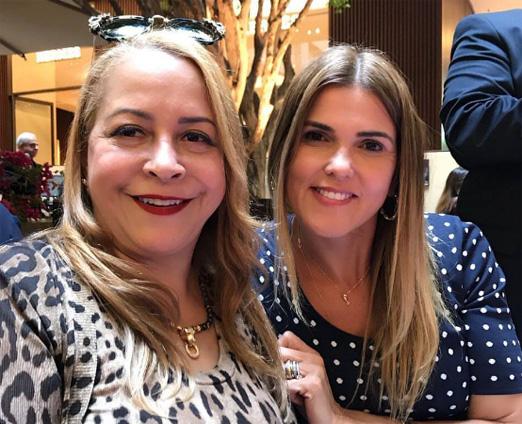 Candida Virgínia Ribeiro e Claudia Lobo