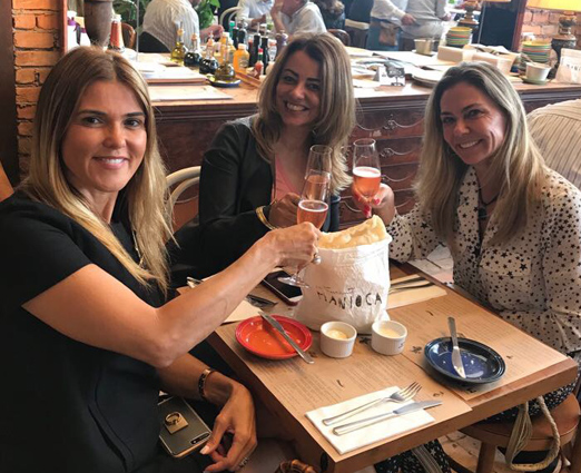 Claudia Lobo, Paloma Perdigão e Márcia Veríssimo