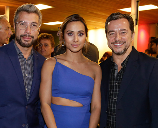 Fernando Torquatto, Thaissa Carvalho e Carlinhos Vieira