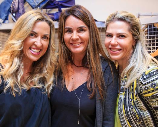Giovanna Giacomini, Patricia Samama e Valeria Castanho