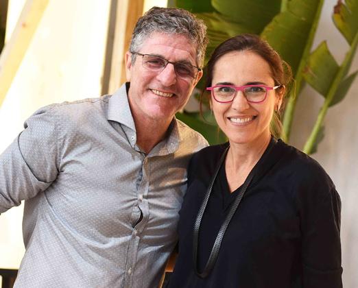 Jaime Herszenhaut e Gisele Taranto