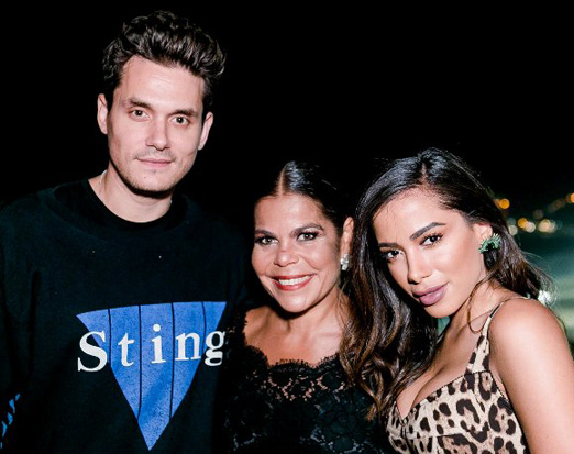 John Mayer, Daniela Falcão e Anitta