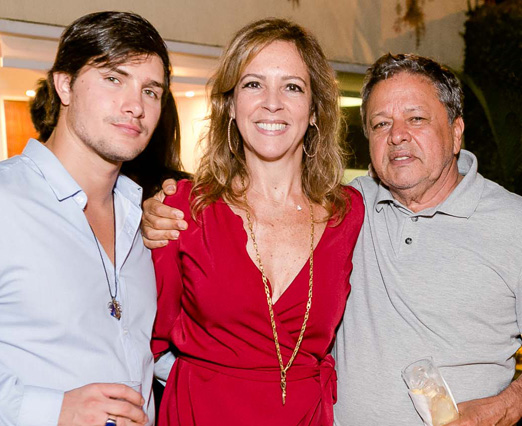 Kevin Gentil, Paula Magalhães e Aloysito Teixeira