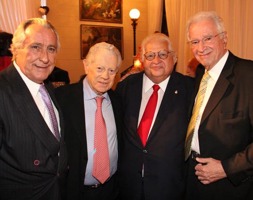 Leleco Barbosa, Arnaldo Niskier, Carlos Alberto Serpa e Fred Padilha