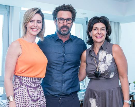 Luciana Marsicano, Luciano Ribeiro e Paula Larroque