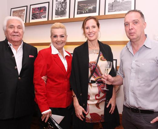 Luiz e Vera Bangel com Evelyne Coulombe e Bayard Boiteux